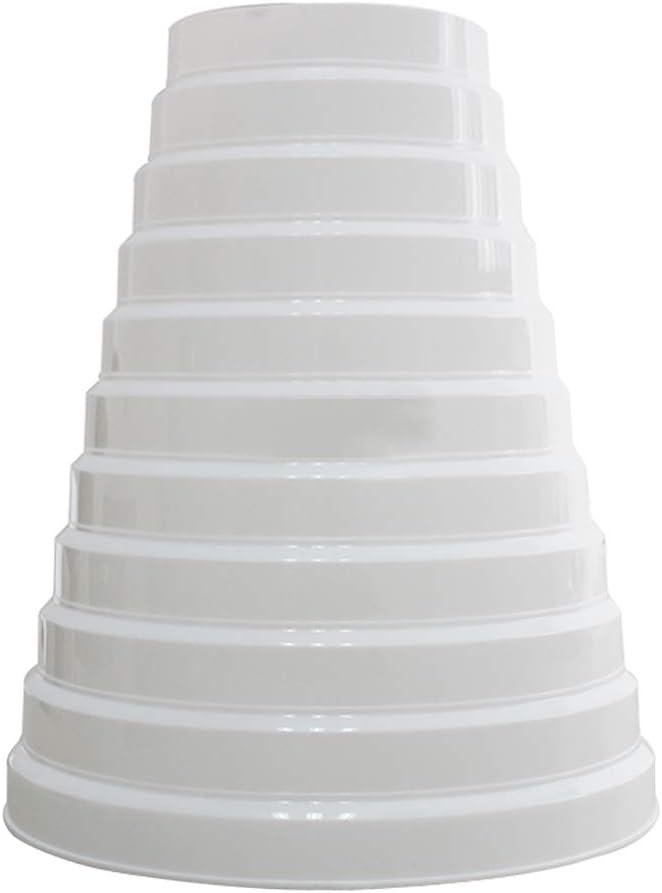 SheMi Plástico Redondo Accesorios Conducto Tubo Reductor - Conductos Tubo Multi Anillo Reductor Extractor Ventilador Ventilación Manguera Conector Adaptador 100mm-200mm Blanco