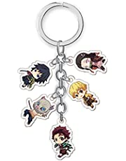 Demon Slayer Keychain,Kimetsu no Yaiba Keychains Anime Keychains Double-Sided Pattern Cute Phone Accessory…