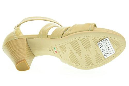 femme moyen sable JARDINS 410 sabbia P615551D NOIR talon sandale qBpnH5H