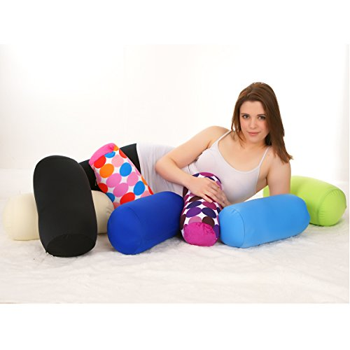 Custom Squishy Pillows : Microbead Bolster Tube Pillow with Cushy, Stay-Cool Fill & Silky Smooth Removable Cover by ...
