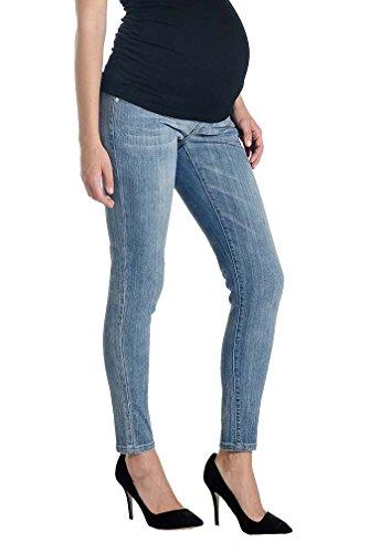 Lilac Skinny 5 Pocket Maternity Jeans - Light Wash - Light Wash - Small