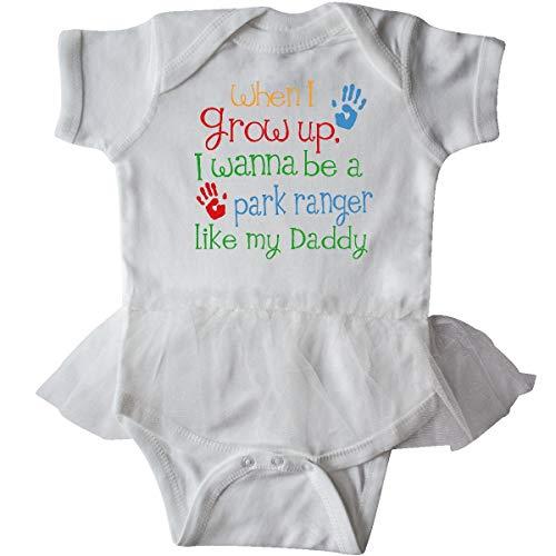 inktastic - Park Ranger Like Daddy Infant Tutu Bodysuit 6 Months White -