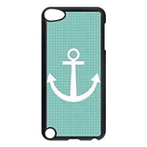 iPod Touch 5 phone cases Black Anchor Pattern Phone cover DSW1904620