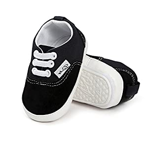 4e9d3a464ad10 Antheron Baby Girls Boys Canvas Shoes Soft Sole Toddler First Walker Infant  High-Top Ankle Sneakers Newborn Crib Shoes   Fall weather solution