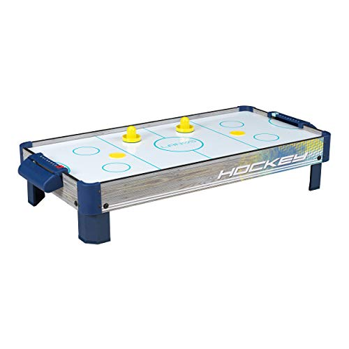 Air Hockey Tabletop Game Table for Kids | Lanos 40 Inch Electronic Air Hockey Game with Powerful Air Blower, 2 Paddles, and 2 Pucks | Electronic Ice Hockey Gifts, Kids Sports Air Hockey Game