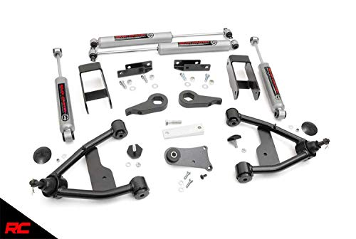 "Rough Country 2.5"" Lift Kit Fits 1982-2004 [ Chevy ] [ GMC ] S10 Trucks w/ N3 Shocks Suspension System 24230"