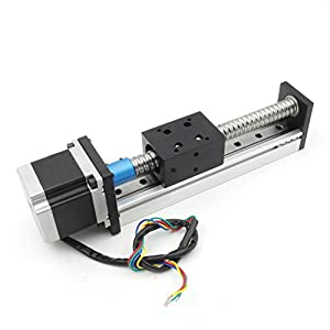 200mm Length Travel Linear Stage Actuator With Square Linear Rails + CBX1605 Ball Screw 1605 Ballscrew Motorized XY XYZ Linear Stage Table With NEMA23 Stepper Motor for DIY CNC Router Milling Machine by Rattmmotor company