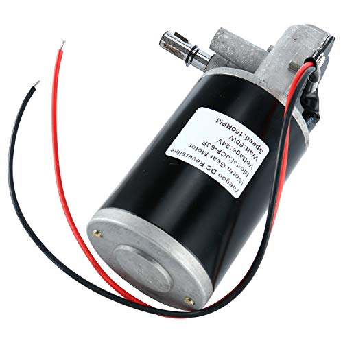 Price comparison product image YaeTek JCF63R DC 24V 80W High Torque Reversible Electric Gear Motor 160RPM