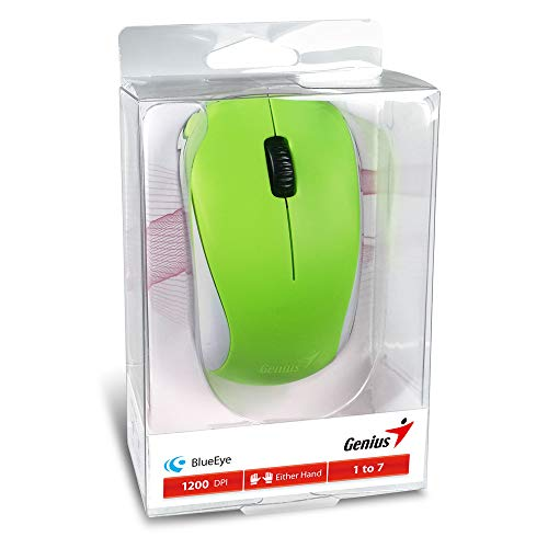 Genius 2.4GHz High Precision Optical Programmable Wireless Mouse BlueEye Engine (NX-7000 Spring Green)