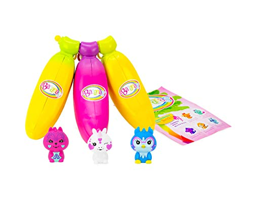 Bananas Collectible Toy 3-Pack Bunch (Yellow, Pink, Yellow - Series 1) by Cepia (Styles May Vary) -