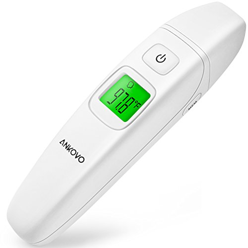 ANKOVO Medical Thermometer Ear Forehead Digital Clinical Upgraded Infrared Accuracy Baby Kids Adults CE and FDA Approved