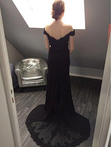 Spitze Langes Meerjungfrau Aiyana Damen Kleid Rueckenfrei Elegantes Bodenlang V Rosa Hellblau Schulterfrei Abendkleid Ausschnitt wq60w8R
