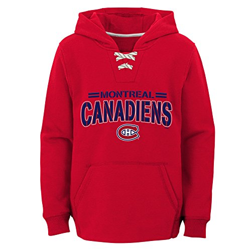 Outerstuff NHL Montreal Canadiens Youth Boys Standard Issue Fleece Hoodie, X-Large(18), Red (Nhl Hockey Montreal)