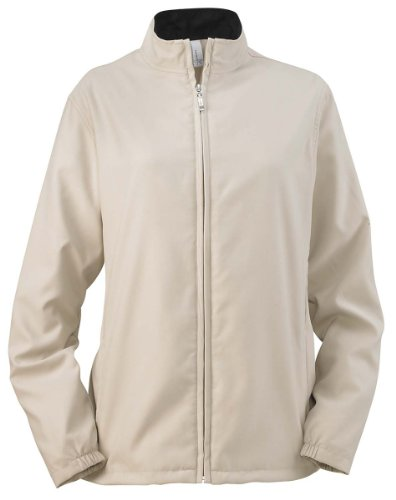 Ashworth 5401C Ladies Full-Zip Lined Wind Jacket - Stone - L