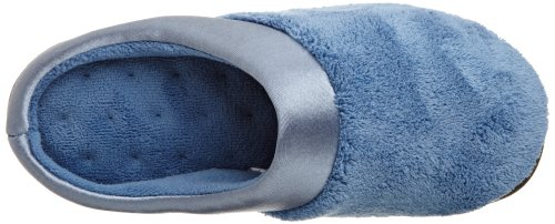 Isotoner Womens Womens Cuff Denim Slippers PillowStep Satin Isotoner Clog Microterry aFdwdn