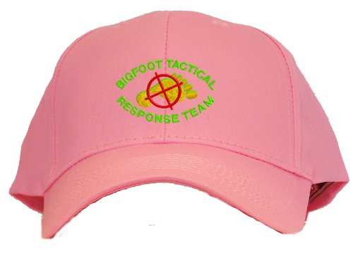 Bigfoot Tactical Response Team Embroidered Baseball Cap - Pink
