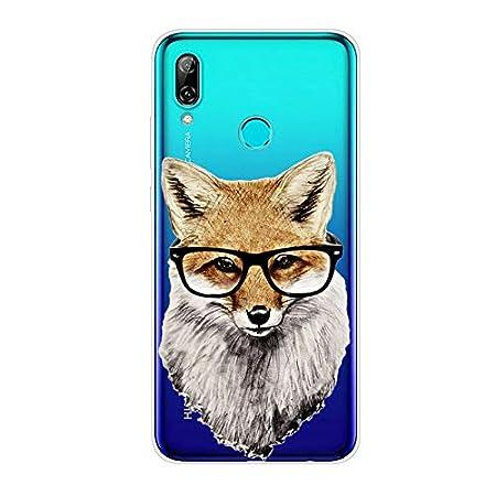 Beso de Gato y Mariposa TPU Anti-Rasgu/ño Anti-Golpes Cover Protectora Transparente Claro Caso Slim Silicona Case Aksuo Funda For Huawei P Smart 2019