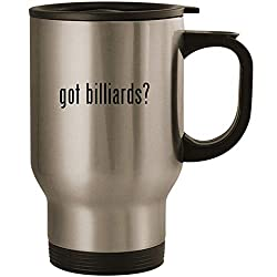 got billiards? - Stainless Steel 14oz Road Ready Travel Mug, Silver