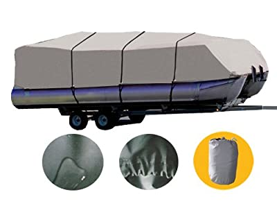 Brightent Pontoon Cover Heavy Duty 600D Boat Three Sizes Water Proof Trailer Fishing Ski Covers