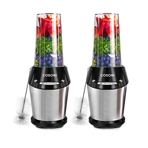 COSORI Blender 2 Pack, Personal Blender for Shakes and Smoothies, 800-Watt Base, Auto & Pulse Function to Extract Nutrients for Juices & Shakes, 2-Year Warranty, 2 X 24oz, one 12oz Cup