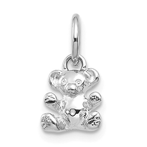 Jewelry Pendants & Charms Themed Charms 14k White Gold Teddy Bear Charm