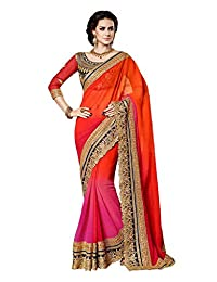 Vinayak Textile Women's Pure Georgette Bollywood Party Wear Saree