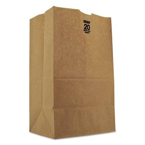 General 20# Squat Paper Bag, Heavy-Duty, Brown Kraft, 8-1/4x5-15/16x14-3/8, 500-Bundle - Includes 500 bags per bundle.