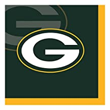 Creative Converting 192-Count  Green Bay Packers  Beverage Napkins