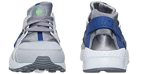 Nike Huarache Run (GS) Trainers 654275 Sneakers Shoes (5.5 Y US, Grey Blue White 014)