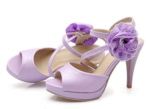 Zapatos YE Mujer tacón morado con HUqAWwUv