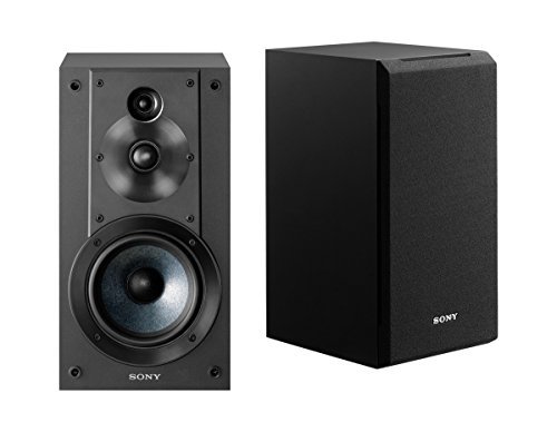 Sony SSCS5 3-Way 3-Driver Bookshelf Speaker System, Black (Pair)