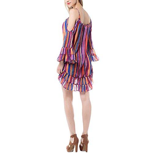 Damen Schlinge Lockerer Schnitt Elegant Beiläufige Trägerlos Kleid Cocktailkleid Skaterkleid Beachwear Trägerkleid Minikleid