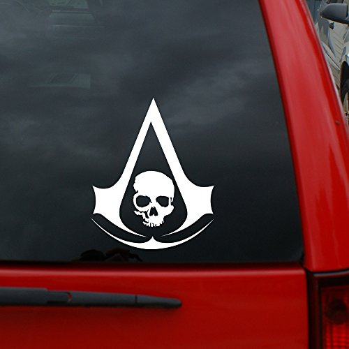 """lack Flag - 5"""" tall Vinyl Decal Window Sticker for Cars, Trucks, Windows, Walls, Laptops, and More. ()"""