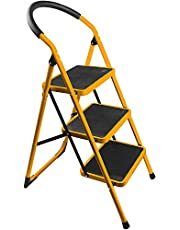 Tolsen 3 Step Steel Folding Ladder 150kg/330lbs