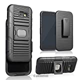 Cocomii Symmetry Belt Clip Holster Galaxy A5 2017 Case, Slim Thin Matte Kickstand Swivel Belt Clip Holster Ring Grip Magnetic Car Mount Fashion Phone Case Bumper Cover for Samsung Galaxy A5 2017 (Black)