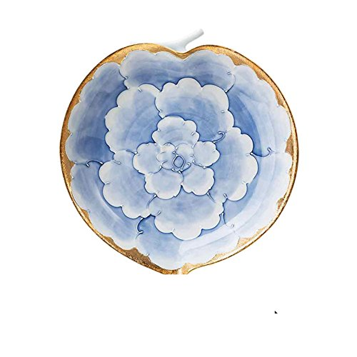 (silver and gold,peony,ceramics-[plate]/dish dish/plate glass-A)
