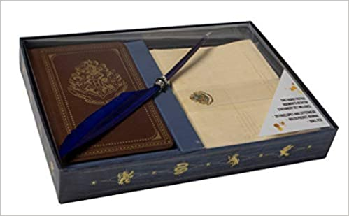 harry potter hogwarts school of witchcraft and wizardry desktop stationery set with pen