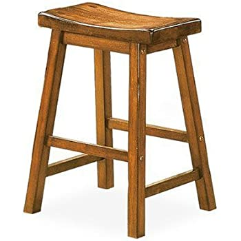 Amazon Com Saddleback 29 Quot Seat Height Wood Bar Stool In