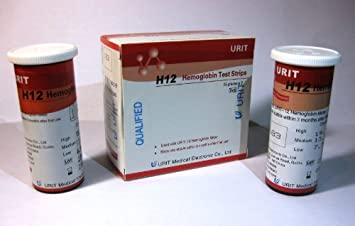 URIT-12 Hemoglobin Test Strips/Blood transfer tubes(50 Pcs/vial)