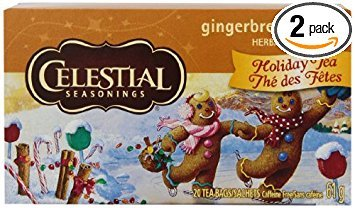 - Celestial Seasonings Holiday Tea Gingerbread Spice Herb Tea, 20-count (Pack of 2)