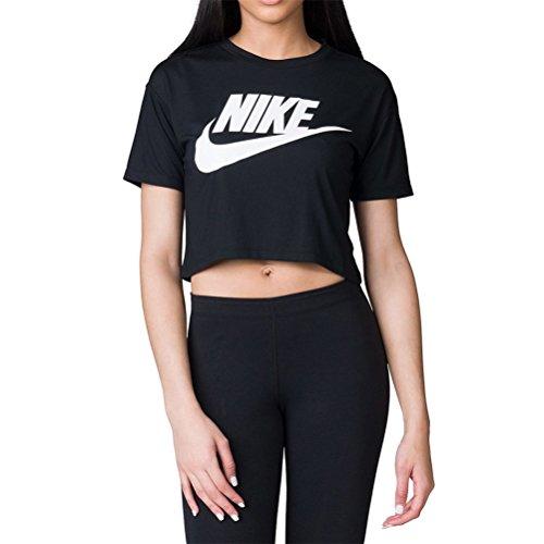 Donna Essential Nike Nero Sportswear Bianco T Shirt 4A1xzq1