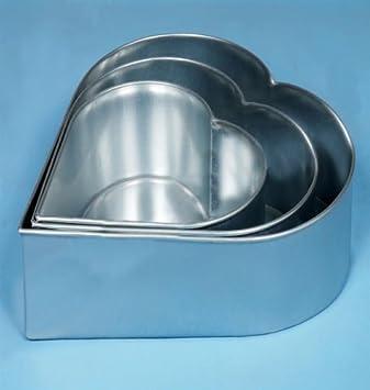 Amazon De Professionelle Kuchenformen Herz 3 Schichten Herzformige