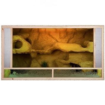 Terrarium 150x80x80 Front mit Versiegelung Holzterrarium Holz ...
