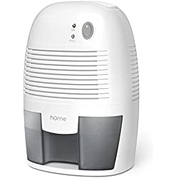 hOmeLabs Small Dehumidifier for 1200 cu ft (150 sq ft) Bathroom or Closet - 16 oz Capacity Mini Quiet Safe Compact Thermoelectric Energy Efficient Dehumidifier - Auto Shut Off