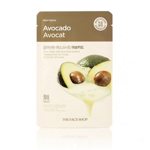 3-Pack-THE-FACE-SHOP-Real-Nature-Mask-Avocado