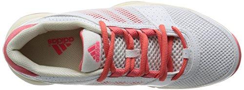 adidas Barricade Team 3W, Schuhe Tennis Damen Blanc (Ftwbla/Poppnk/Ivoire)