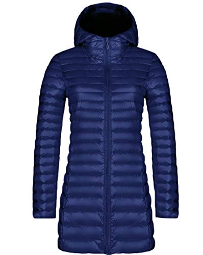 Zipper 1 Hooded Jackets Quilted Puffer Winter Women's Warm EKU Down COw5qAx4