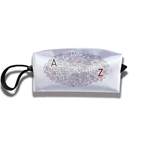 Cosmetic Bags With Zipper Makeup Bag Same Words Different Meanings Middle Wallet Hangbag Wristlet -