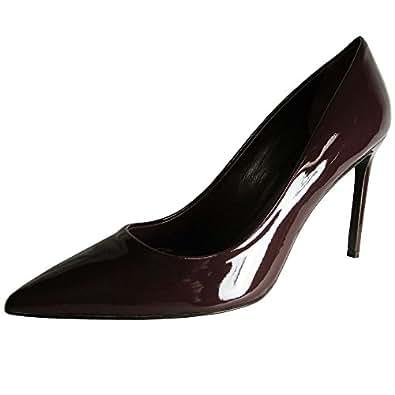 Delman Womens Betti Classic Dress Pump Shoe, Aubergine Patent, US 9.5