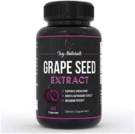 Grape Seed Extract by Ivy Naturals    Promotes Cardiovascular Health    Anti-Inflammatory Effects    Supports Bone Growth And Development    SATISFACTION GUARANTEED
